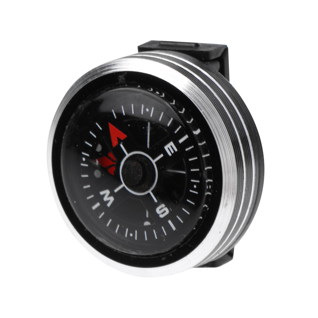 Mini Slide On Watchband Compass Wrist Navigation With Hole Direction Guide Survival Kits Climbing Hiking Mountaineering Tourism