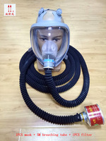 5M Breathing tube respirator gas mask high quality Silica gel full face respirator Underground pipe Dangerous operation gas mask