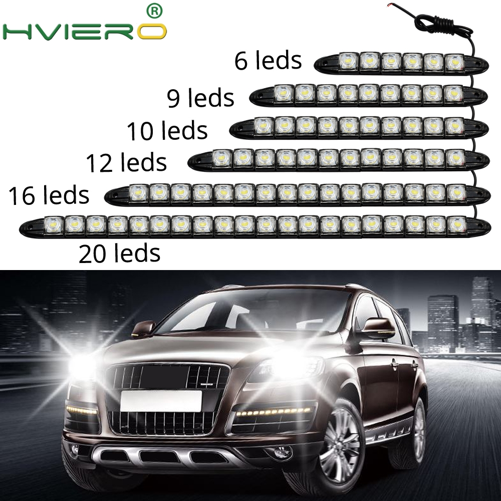 LED White Auto Auto Decorative Flexible LED Strip High Power 12V Auto LED Daytime Running Light LED Strip Light Black Shell