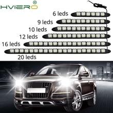 цена на LED White Auto Auto Decorative Flexible LED Strip High Power 12V Auto LED Daytime Running Light LED Strip Light Black Shell
