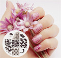 BORN PRETTY Nail Stamping Plates Leaf Feather Nail Art Stamp Image Template Manicure Decoration Stencils BP18