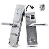 Heavy Duty Stainless Steel Biometric Fingerprint Door Locks Deadbolt Features Mechanical Key Password Digital Code Keyless