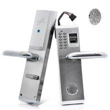 Ağır Paslanmaz Çelik Biyometrik Parmak Izi Kapı Kilitleri Sürgü Özellikleri Mekanik Anahtar Şifre Dijital Kod Anahtarsız Kilit