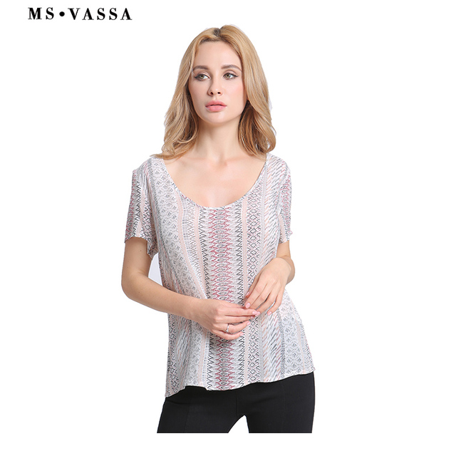 Tees Striped T-shirt Short Sleeve for Women  2