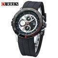 De Nnew manera CURREN hombres reloj de cuarzo ocasional impermeable dial grande cronógrafo reloj envío gratis 8143