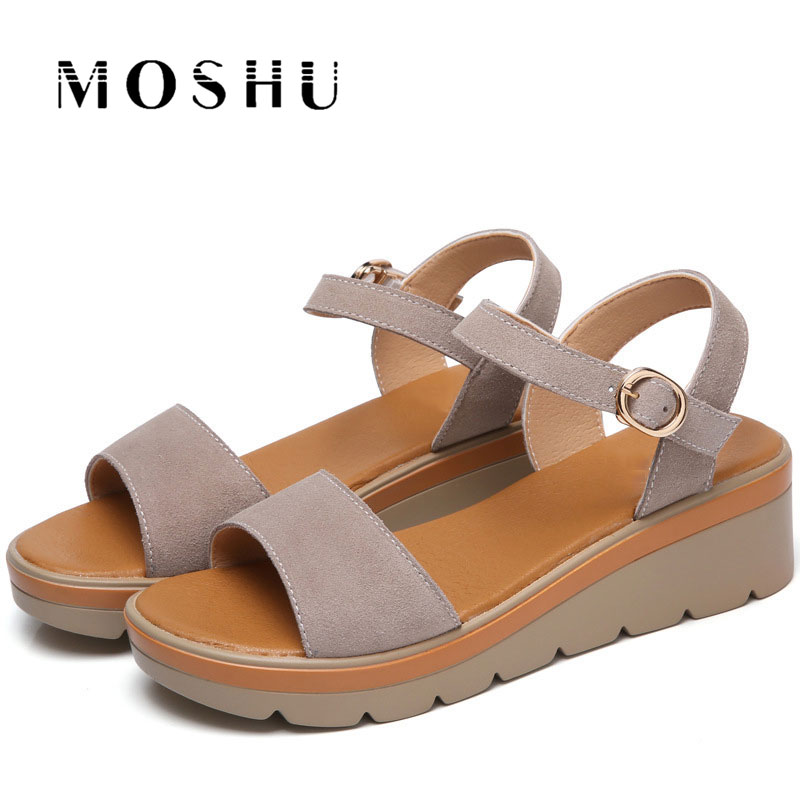 Fashion Women Gladiator Sandals  6 CM High Heel Platform Ladies Beach Slippers Summer Casual Shoes  Zapatos Mujer Size summer high quality women flats sandals plus size 34 43 new fashion casual ladies sandalias comfort mujer gladiator woman shoes
