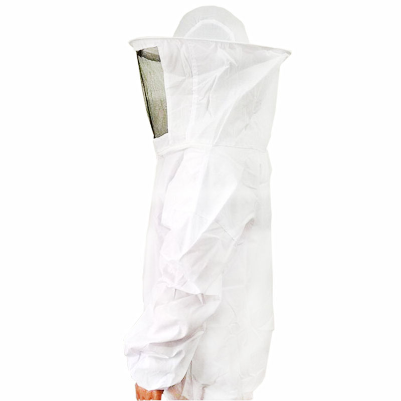 1 pcs White Beekeeper Beekeeping Special Protective Suits Protective Clothing Siamese Coat With Hat Within 75kg Of Body Weight