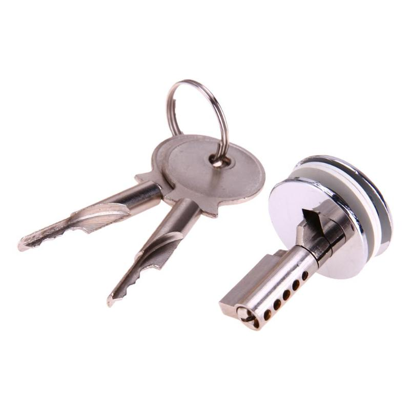 1 Pcs Glass Lock Plunger Push Lock Zinc Alloy Showcase Push Glass Display Cabinet Cylinder Lock With 2 Key Furniture Hardware Price Remains Stable