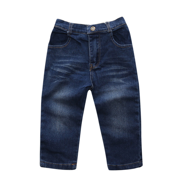 Retail 2018 NEW summer boys clothes 4 pcs. With Short Sleeve + Denim Pants in Summer Clothing Sets ST255