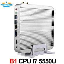 Partaker Nettop B1 Core i7 5500U i7 5550U HD Graphics 6000 16GB 512GB SSD WIFI mini