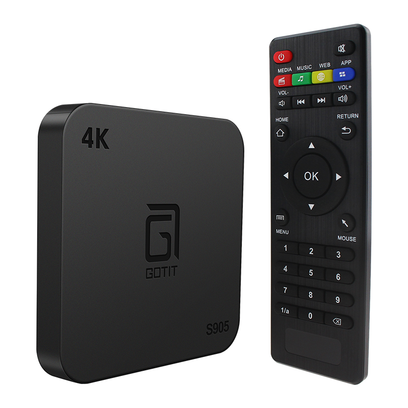 GOTIT S905 android tv box 7.1 pour smart tv Amlogic S905X Quad core 64 bits 8G ROM Support 100M LAN Europe France tv iptv box-in Décodeurs TV from Electronique    1