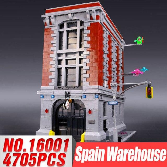 DHL 16001 4705Pcs Ghostbusters Firehouse Headquarters brinquedos Model set Building Kits Model Compatible 75827