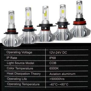 Image 4 - שיתוף אור H7 Led פנס נורות H4 Led 60W COB Hi Lo Beam אוטומטי פנס מכונית אור נורות 12V 24V ערפל אור ליוניברסל מכוניות
