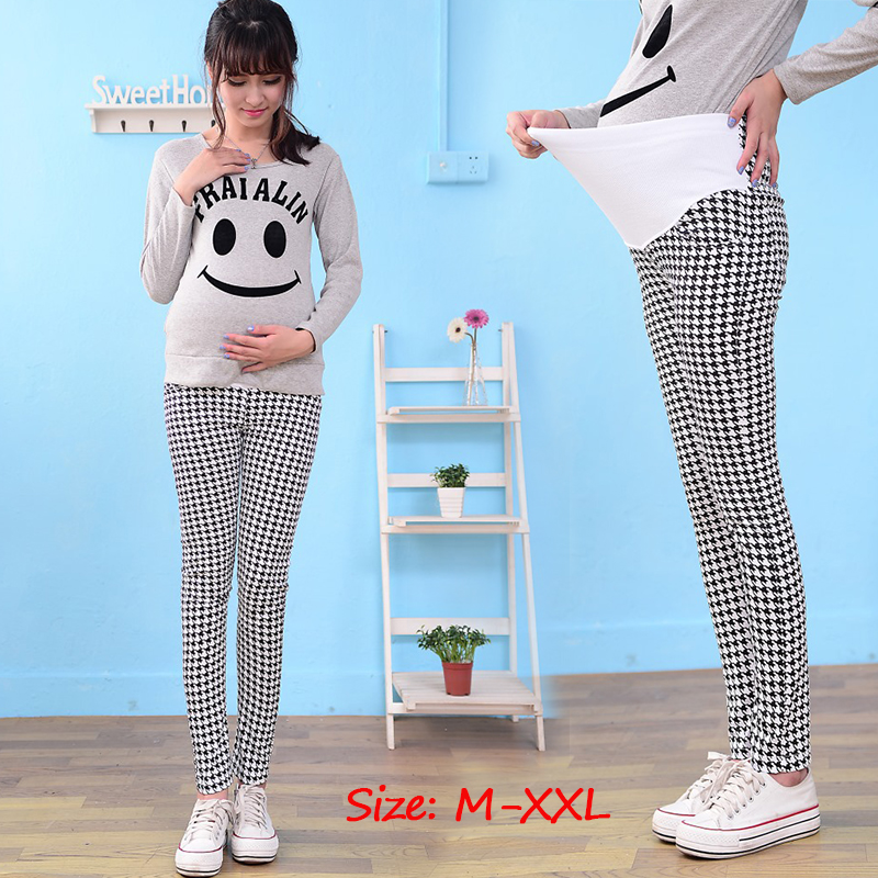 5450ceecc65fd Fashion Houndstooth Maternity Overalls Pants Pregnant Women Office Ladies  Pregnancy Clothes for Summer Spring Maternity Clothing-in Pants & Capris  from ...