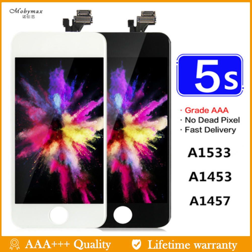 Mobymax Digitizer-Assembly Display Touch-Screen A1533 A1457 iPhone 5s 100%Replacement