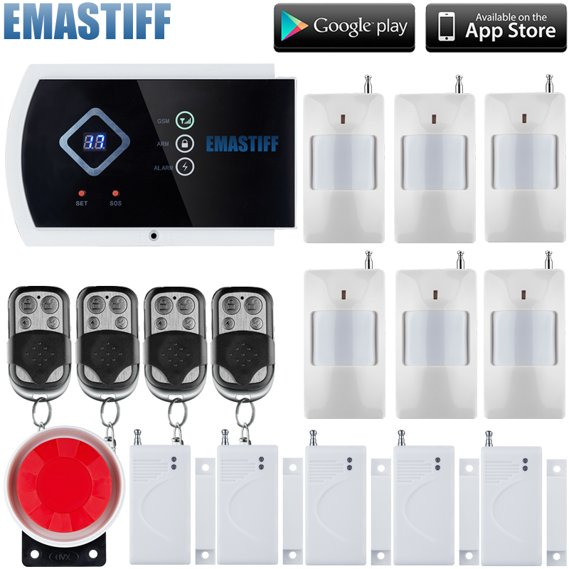2015  Latest arrival GSM HOME BURGLAR ALARM SYSTEM New Version With App control function 2017 new arrival g90b plus gsm alarm