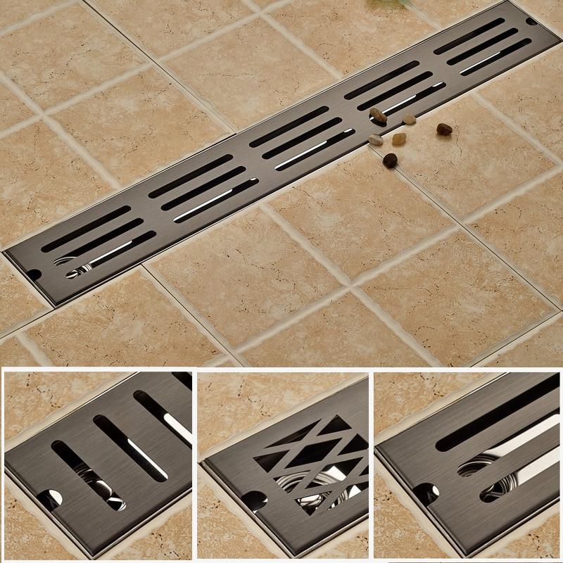Oil Rubbed Bronze Bathroom Shower Floor Drain Stainless Steel 70cm Linear Long Bathroom Grate Channel Tile. Online Get Cheap Clean Bathroom Shower Tile  Aliexpress com