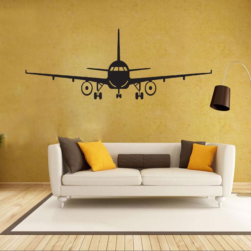 Letadla Model vyřezávané samolepky na zeď Home Decor Obývací - Dekorace interiéru