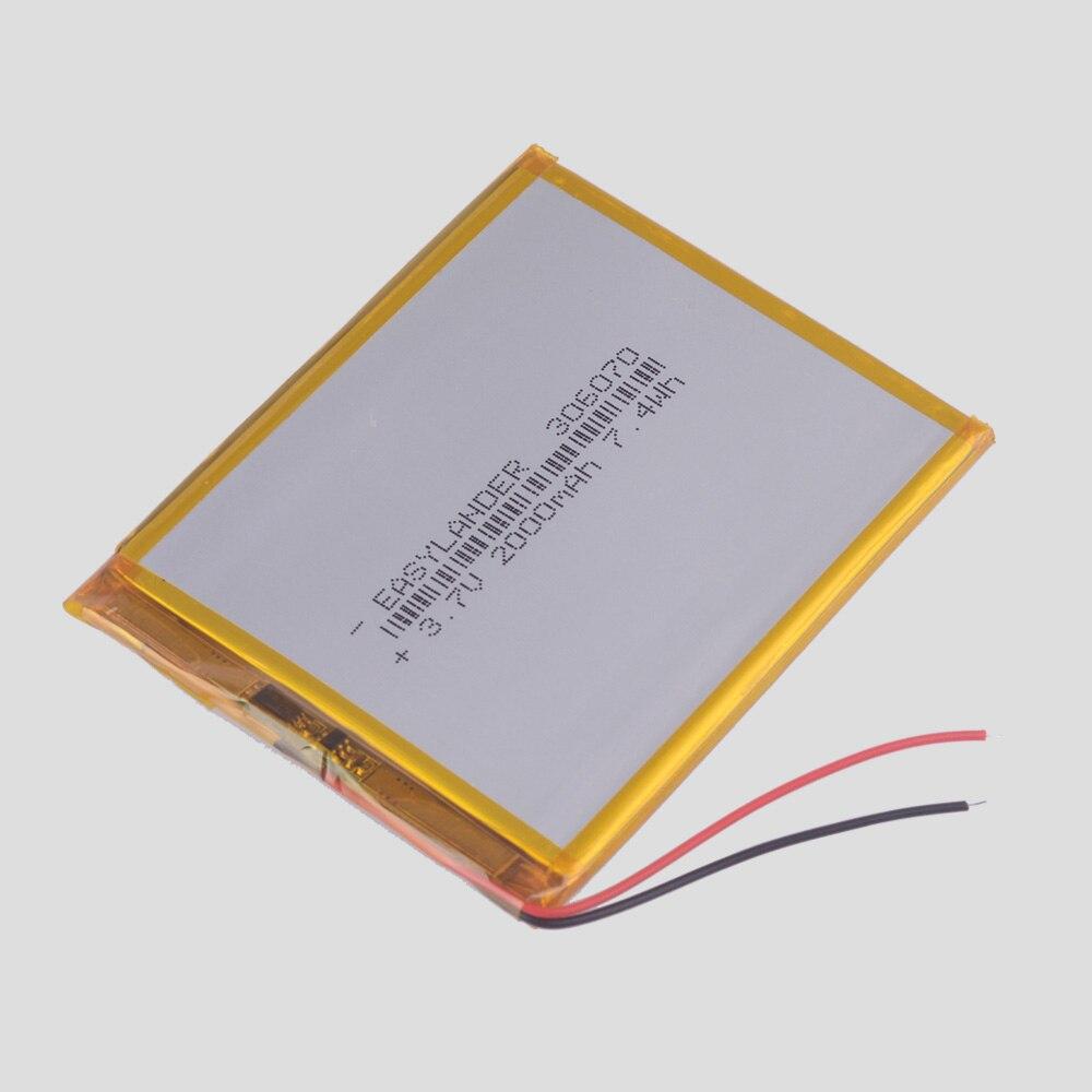 306070 3,7 v 2000 mah lithium-Polymer-Batterie Für PSP PDA GPS DVR E-Book Tablet PC Power Bank Wexler buch E6005 356070