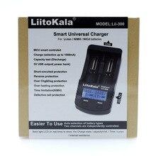 2018 LiitoKala Lii 300 18650 Carregador de Bateria de Teste do display LCD 18650 18350 26650 10440 14500 18500 26500AA AAA Bateria carregador