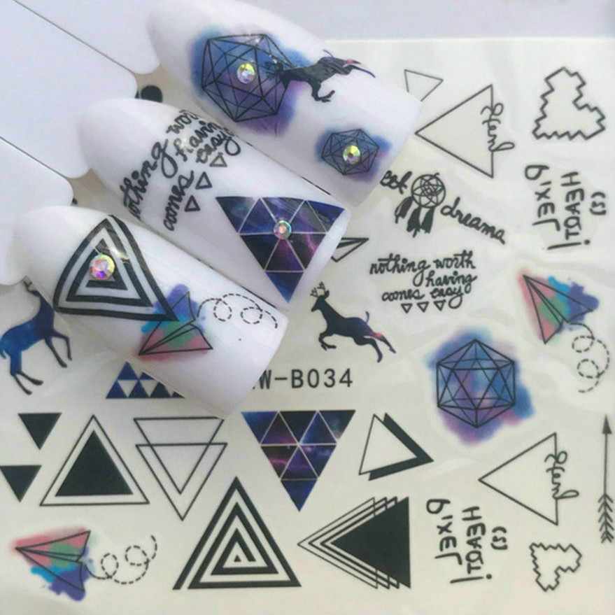 1 Pcs Sell Blue Deer Nail Art Template Stamp Stamping Image Plate Stainless Steel Nail Template Manicure Stencil Tools