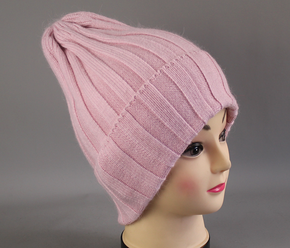 Thick Winter Hats For Women angora Beanies Hat knitted wool warm Beanie With Back Opening 2018 New (11)