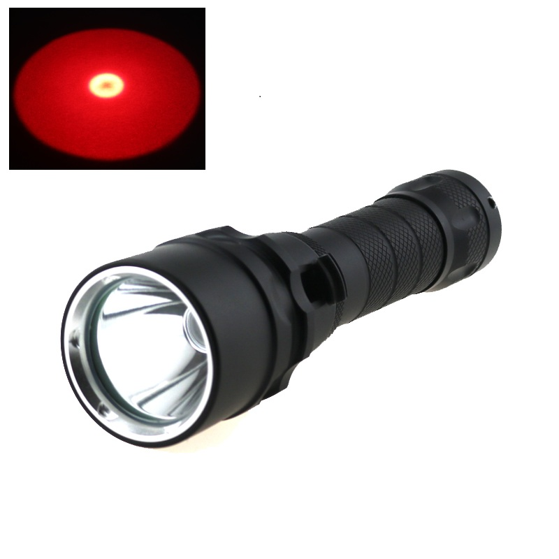 10W Underwater Video Light Cree Q5 Red Light LED Scuba Diving Flashlight Torch Waterproof 18650 Battery Dive Lamp Lantern diving flashlight cree red light torch photography underwater video led flashlight 4x white 2x cree red led scuba photography