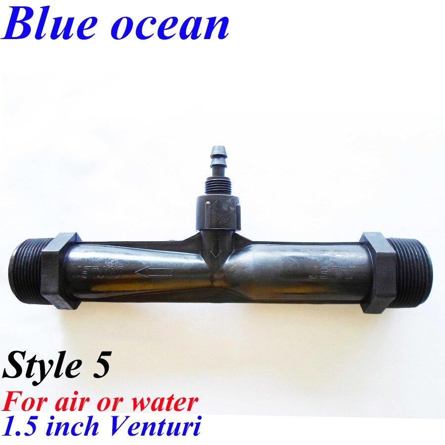 BO-0150V, 1/4 1/2 3/4 1 1.5 2 inch venturi PVDF gas-liquid mixer built-in check valve free shipping 1 4