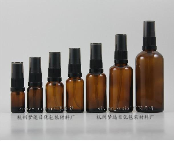 100 ml ümmargune pruun / merevaigukollane parfüümi pudel musta - Nahahooldusvahend