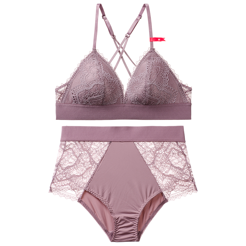 ffe0f7a74b2 CINOON Sexy Mousse Small Big girls VS Push Up Bra Set Underwear Fashion Lace  Jacquard Bra