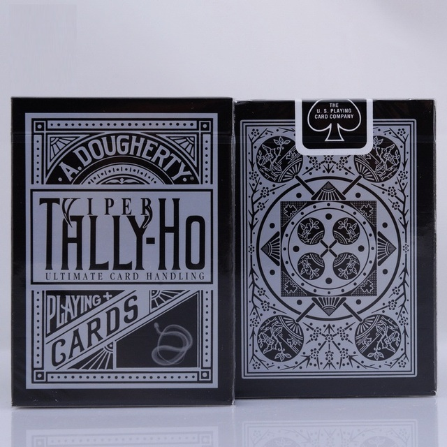 1pcs Tally-Ho Viper Deck Bicycle Fan Back Playing Cards Black Deck By Ellusionist Creative Poker Magic Props Magic Tricks