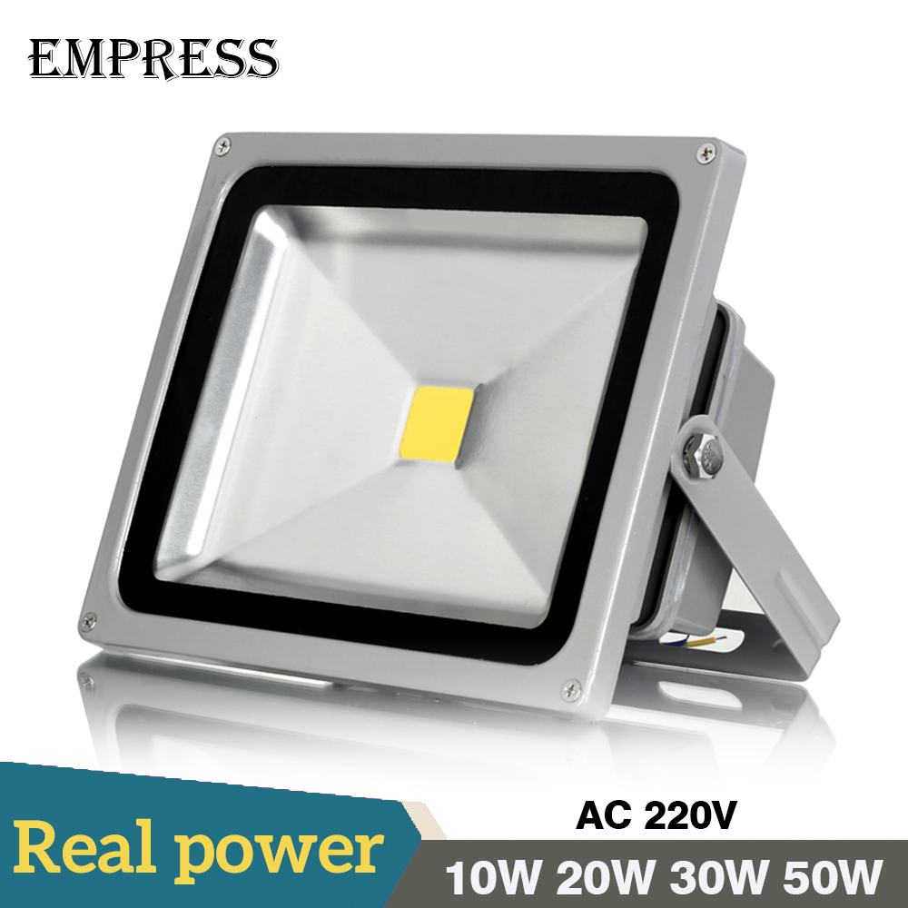 New Led Flood Outdoor Floodlight Lamp 10W 20W 30W 50W 220V LED Flood light street lamp refletor foco led Spotlight exterior IP65 10w 800lm white flood light projection lamp 220v