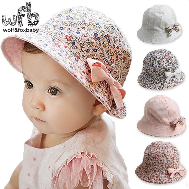 Retail 6-48 Months sunbonnet sun hats Two-sided Fisherman 50CM caps touca baby children infant bebes kids spring summer fall