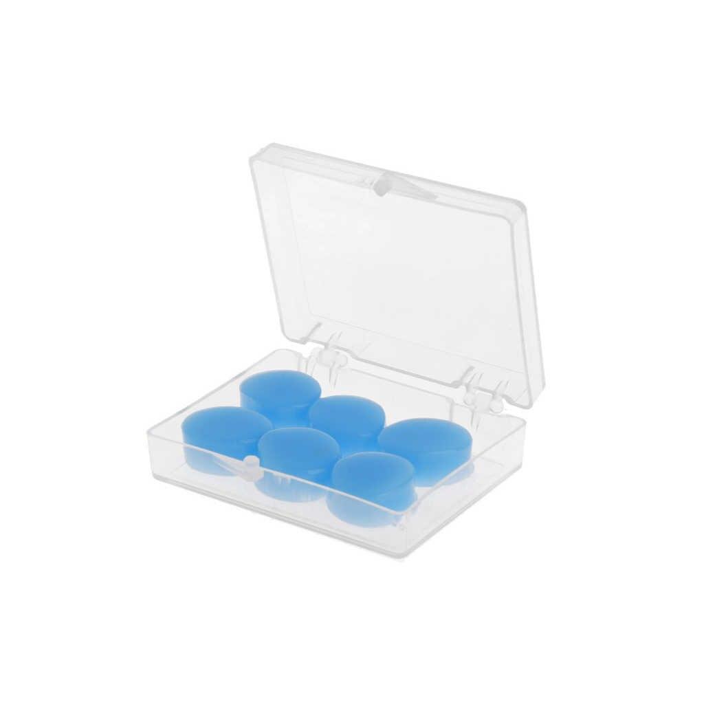 6 Pcs Penyumbat Telinga Pelindung Telinga Silikon Lembut Tahan Air Anti-Noise Earbud Pelindung Kolam Mandi Olahraga Air