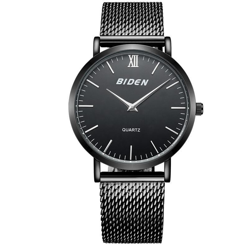 все цены на  BlDEN Mens Watches Top Brand Luxury Stainless Steel Mesh Band Gold Watch Men Business quartz-watch Male Clock Relogio Masculino  в интернете