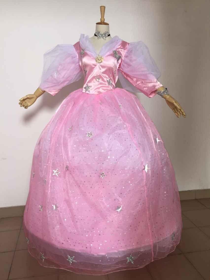 Glinda robe Glinda fée marraine Cosplay Costumes robe pour Halloween rose fée robe sorcière Costume sur mesure