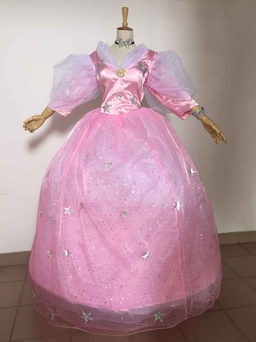 Glinda dress  Glinda Fairy Godmother Cosplay Costumes dress for Halloween pink fairy dress Witch Costume custom made