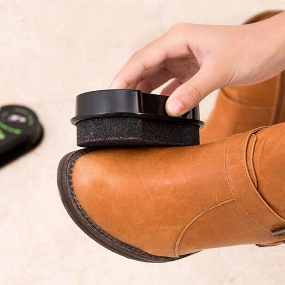 1 Pcs Mais Limpo Líquido De Limpeza Rápida Lustrar Sapatos Escova Escova de Cera Cera De Polimento De Couro Brilhando Esponja Polidor de Sapato Bota Saco Sofá