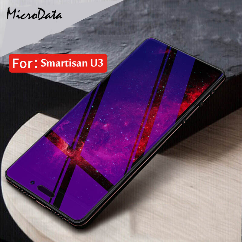 MicroData For Smartisan U3 Anti Blue Light Tempered Glass 9H 2.5D Premium Screen Protector Film For Smartisan Nut 3 Pro 3 5.99