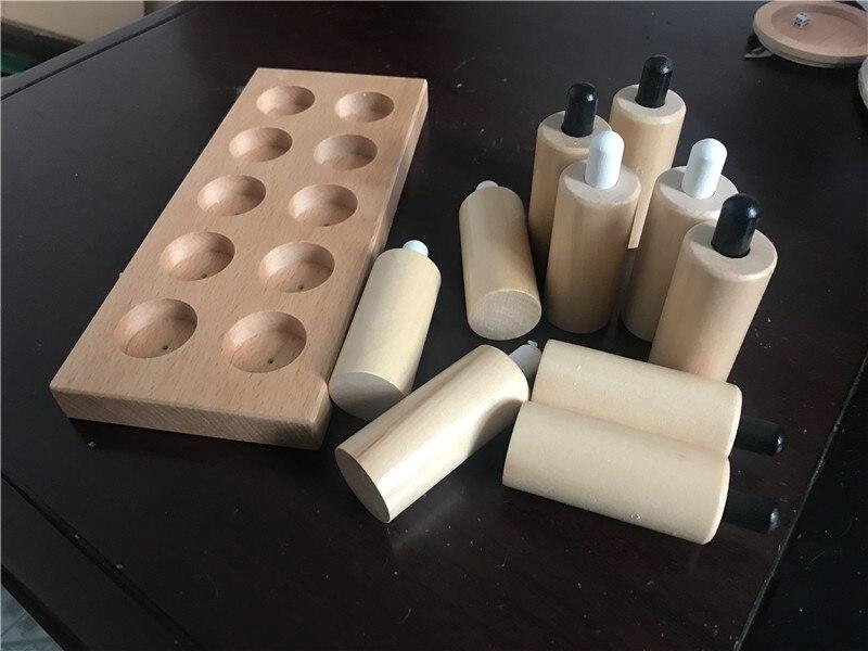 Nouveau jouet en bois pour bébé Montessori cylindres de pression sensoriels éducation de la petite enfance jouets pour enfants d'âge préscolaire cadeaux pour bébés - 5