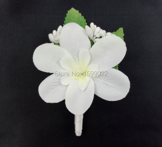 Groom Boutonnieres for Beach Wedding Men Bride Maid of Honour Corsages Emcee Bestman Suit Marriage Decoration Brooch Pin White