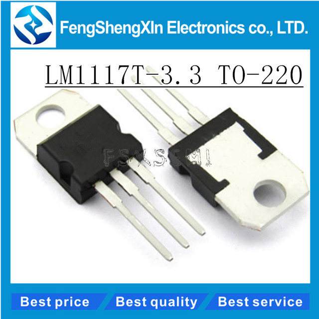 10pcs/lot New LM1117T-3.3 TO-220 LM1117-3.3 LM1117T 3.3 V LM1117 Low-Dropout Linear Regulator