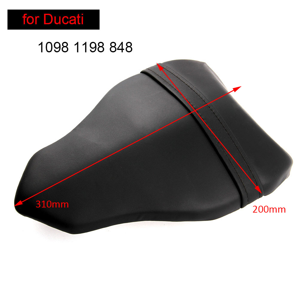 For Ducati 1098 1198 848 Rear Seat Cover Cushion Leather Pillow Motorcycle Passenger Seat Accessories
