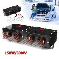 KROAK 12 V 150 W/300 W Auto Reizen Heater Verwarming Warmer Thermostaat Fan Venster Ontdooier Voorruitverluchting Auto Styling