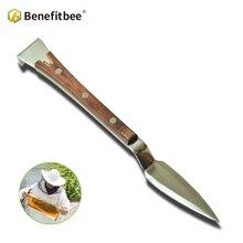 Benefícios abelha colmeia raspador cor madeira apicultura faca raspador para apicultura tomar mel apicultura ferramentas suprimentos equipamentos abelha