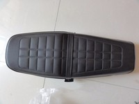 Universal CG Motorcycle Seat Assy CG125 CG150 ZJ125 Black Seat Cover Retro Cushion Plastic Bottom Plate