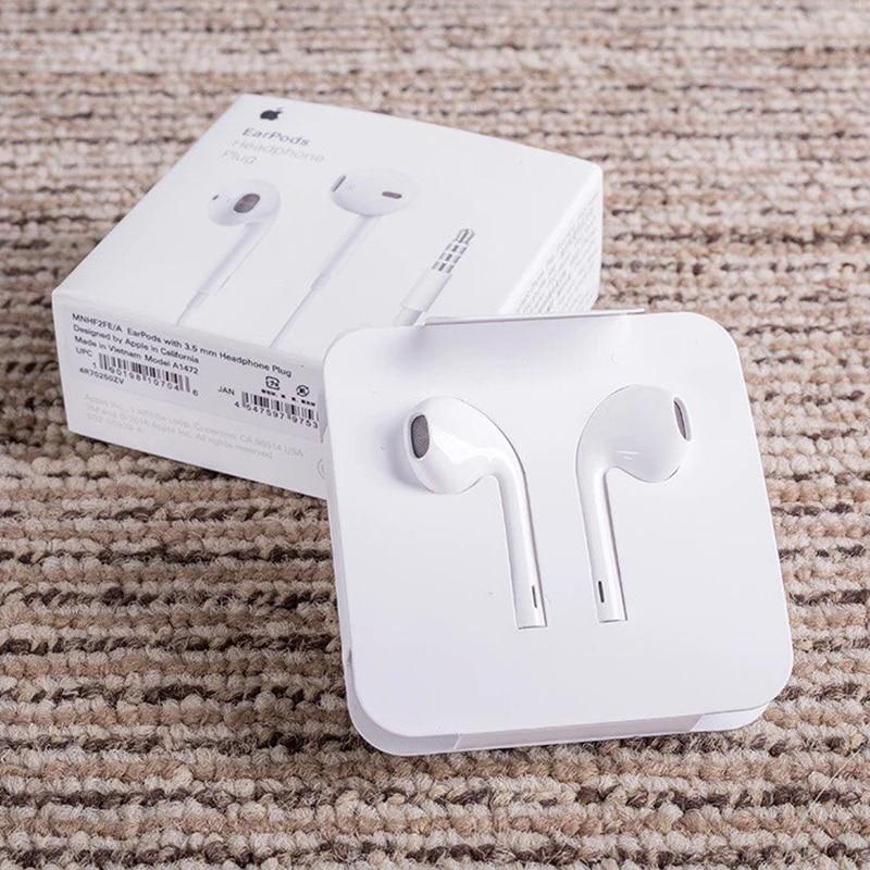 Оригинальный Apple Earpods с и 35 мм разъем Lightning In Ear Наушники вкладыши глубже богаче бас для iPhone Android смартфон купить на AliExpress