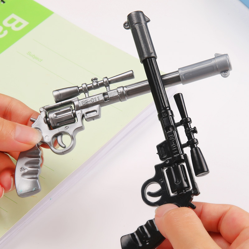 2 Шт./лот Обучения канцтовары A016 Творческий Cross Fire Пистолет модель пистолета нефти шариковая ручка студенческие призы оптовая