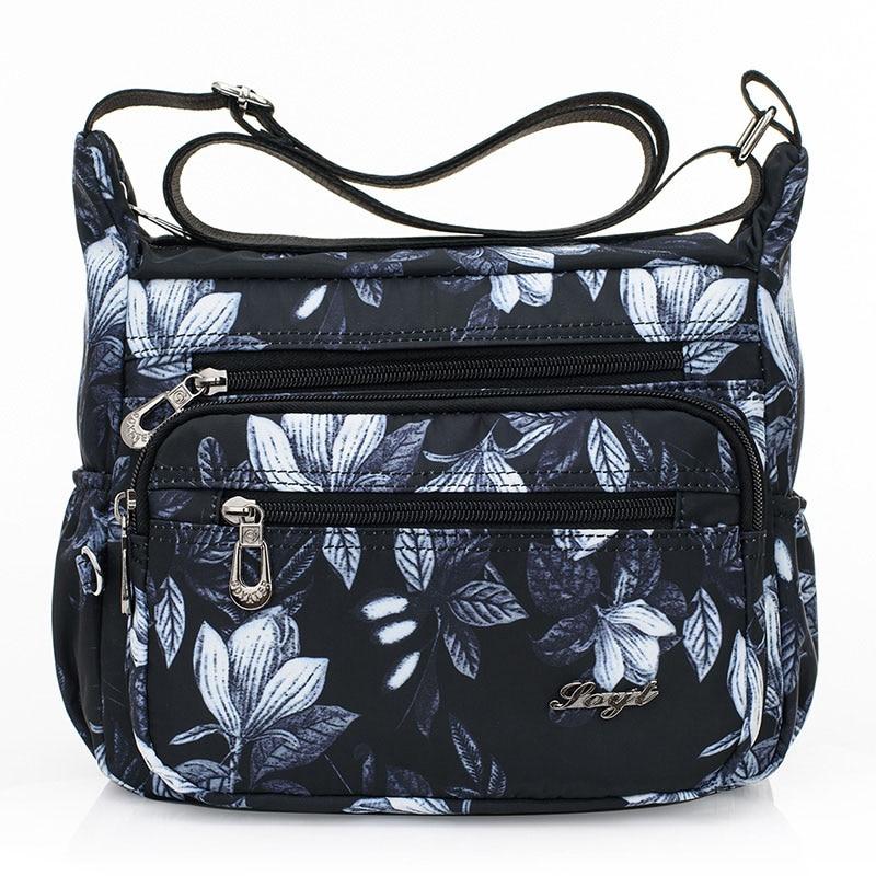 цена на Summer New Women Bag Shoulder Bags Waterproof Nylon Crossbody Small Women Ladies Messenger Bags Bolso Flowers Printing Handbags