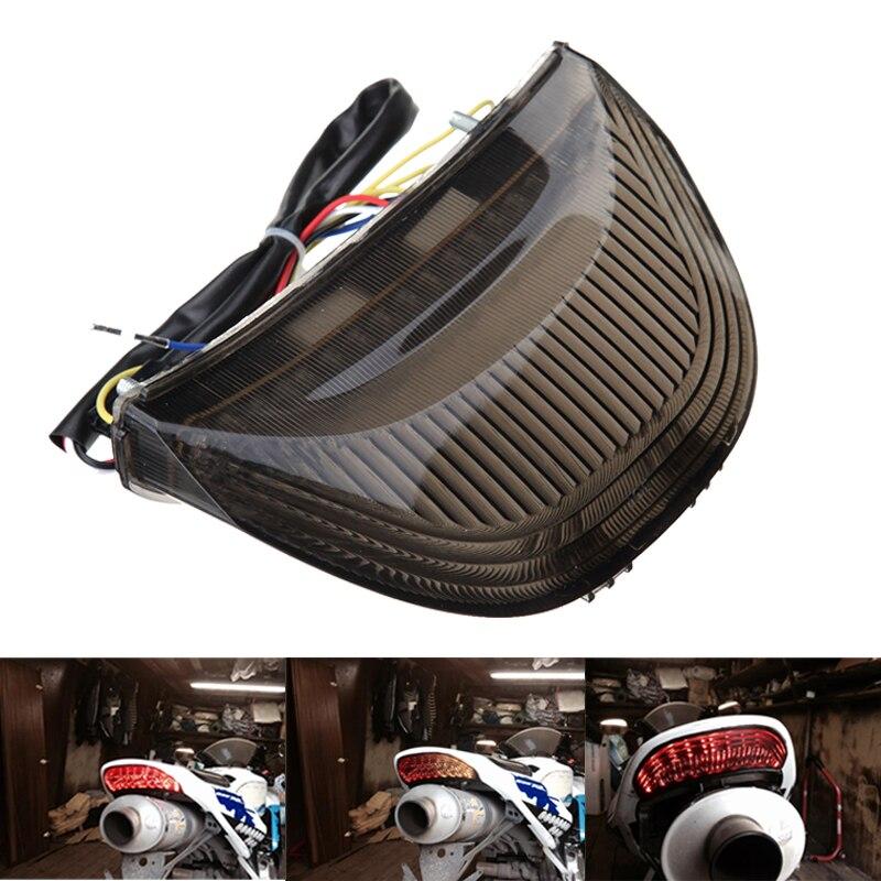 For Honda CBR600RR 03 04 05 06 CBR1000RR 2004 2005 2006 2007 Smoke Rear Tail Light Brake Turn Signal Integrated LED Light Lamp